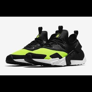 Nike Air Huarache Drift Volt Black White
